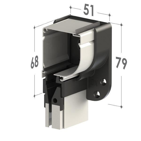 mosquitera enrollable botones vera detalle cabezal50